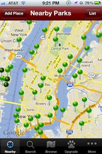dogpark - dog lover apps for new yorkers