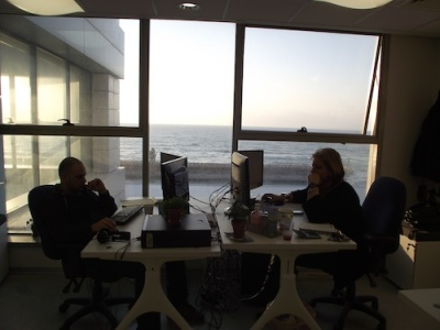 Wix offices in Tel Aviv with sea view